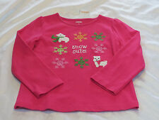 NWT girls Gymboree Cheery All The Way pink westie dog Snow Cute tee top 4 4T