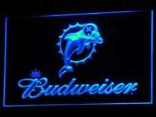 Budweiser beer Neon sign Miami Dolphins footbal Bar pub LED light Sign sports