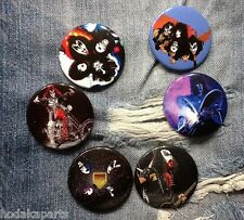 "6 Kiss Buttons 1.75"" Paul Stanley Gene Simmons Ace Frehley Peter Criss Pinbacks"