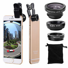 3 in1 Fish Eye+ Wide Angle + Macro Camera Clip-on Lens for iPhone 6/Plus/5S Y