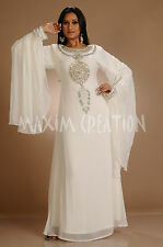 DUBAI VERY FANCY KAFTANS abaya jalabiya Ladies Maxi Dress New Wedding gown 3172