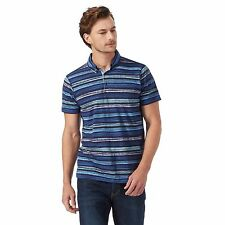 Rjr.John Rocha Mens Navy Striped Print Polo Shirt From Debenhams
