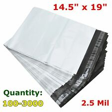 14.5 x 19 Poly Mailers Polybag Shipping Envelope Self Sealing Plastic Bag 2.5Mil