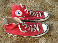 Vintage Red Converse All Star Chuck Taylor High Top Mens Shoes Made In USA 9.5