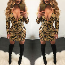 Sexy Women's V-neck Bandage Bodycon Evening Party Cocktail Clubwear Mini Dress