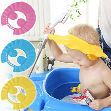 Baby Kids Shampoo Bath Bathing Wash Hair Shield Shower Cap Hat Adjustable