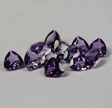 3MM TO 9MM 100% NATURAL AMETHYST FACETED CUT TRILLION AAA PURPLE COLOR GEMSTONE