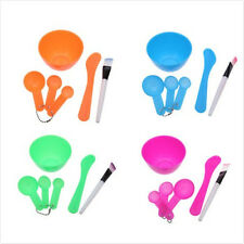 New 4 in 1 DIY Facial Mask Mixing Bowl Brush Spoon Stick Tool Face Care Set Fine