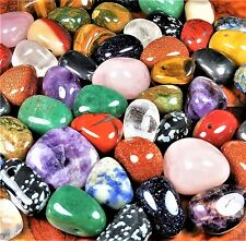 Tumbled Gemstone Bead Necklace Pendant Beads AA16 Healing Crystals And Stones