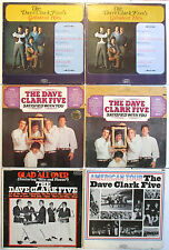 THE DAVE CLARK FIVE 6 VINYL LP LOT GREATEST HITS, GLAD ALL OVER, AMERICAN TOUR +