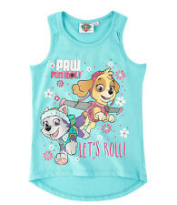 Paw Patrol Turquoise Vest Top Ages 3 - 9 Years