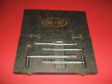 Telescopic Gauges by M&W (Moore & Wright). A boxed set, 3 sizes plus extension