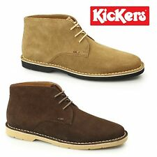 Kickers KANNING Mens Suede Leather Comfy Casual Lace Up Desert Chukka Boots