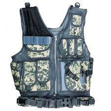 ACU CP Black Military Tactical Vest With Holster Cool Chest Rigs