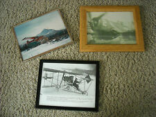 Lot of 3 Vintage Framed Photos Airplane Aircraft Aviation Pilots
