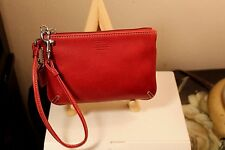 COACH SMALL WRISTLET WALLET 100% AUTHENTIC BURGUNDY 100% GENUINE LEATHER NWOT