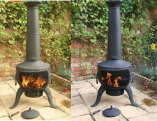 Extra Large Chimenea Steel Cast Iron BBQ Grill Chiminea Patio Heater Fire Pit