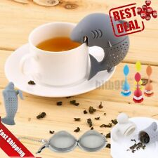 Silicone Manatee Diffuser Infuser Loose Tea Leaf Strainer Herbal Spice Filter BB