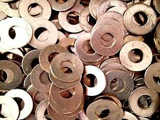 "LOTS OF 5, 10,& 25! SOLID COPPER FLAT WASHERS 3/8"" ID x 7/8"" OD x 1/16"" THICK RC"