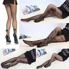 Adult Women Sexy Lace Fishnet Stockings Pantyhose Nightwear Elasticated Top New