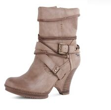 Mustang Taupe Ankle Boots rrp £75 EM 864