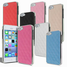 Luxury New Apple iPhone SE/5/5S Leather Chrome Skin Case / Cover Shockproof