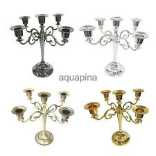 Traditional 5 Arm Candelabra Candlesticks Candle Holder Wedding Party Decor PICK