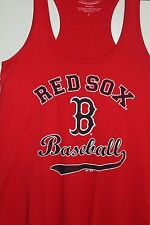 Women's Majestic Threads Red Boston Red Sox Baseball Logo 100 % Cotton Racerback
