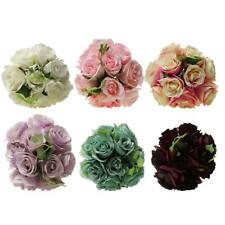 Artificial Rose Hydrangea Silk Flowers Bridal Wedding Party Home Decor 6 Colors