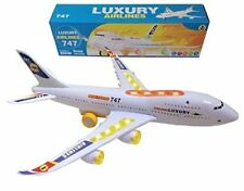 Toyze Bump And Go Action, Boeing 747 Airplane With Lights And Real Sounds TZ-74