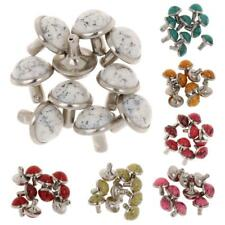 10x Metal Mushroom Cap Rivet Stud Spike Nail Buttons for Bag Leathercraft 8.5mm