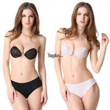 Womens Multiway Wedding Bra Invisible Underwear Strapless Lingerie A B C D cup