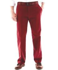 Haggar Mens Dress Pants cotton twill brick flat front solid sizes 32, 36 NEW