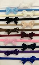 Baby Girls Tiny Velvet Bow Soft Elastic Headbands Fit All Sizes Accessories +Lot