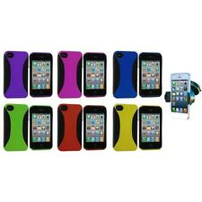 For iPhone 4 4S 4G Color Hybrid Hard/TPU Skin Case Cover+Windshield Mount