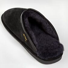 Old Friend Mens Scuff Slippers - Black
