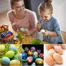 DIY Wooden Simulated Egg Lifelike Kid Drawing Painting Graffiti Play Game Toys