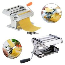 """Stainless Steel Pasta/Noodle Maker Making Machine Dough Roller with Handle - 7"""""""