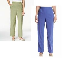 Alfred Dunner Womens Pants Pull On Cyprus Iris sizes 10 10P 14P 16P 18P 18 NEW