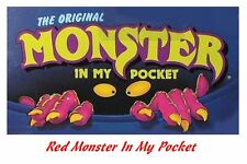 Monster in my Pocket - Series 1 - Mini Figure MIMP Matchbox MEG - Red