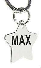Custom Personalized Stainless Steel Star Dog Tag Cat Tag Pet ID Tag Name Tag