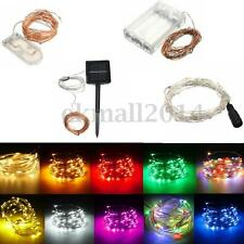 1-20M LED MICRO Silver Copper Wire Fairy String Lights Xmas Battery/Solar/12V