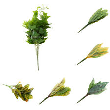 Artificial 10-Fork Leaves Leaf Plants Silk Foliage Grass DIY Table Garden Decor