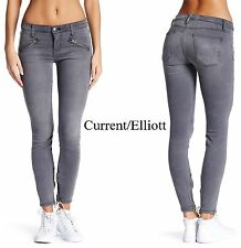 NWT $278 CURRENT/ELLIOT SILVERLAKE ZIP SKINNY JEAN IN DAZZLER. MADE IN USA.25,26