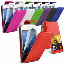 Leather Flip Mobile Phone Case Cover with Screen Protector For HTC Models