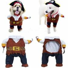 Pet Dog Pirate Apparel Doggy Clothes Cat Costume Dress Suit Outfit 4 Sizes