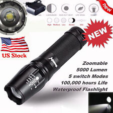 5000 Lumen 5 Modes T6 Zoomable LED 18650 Flashlight Torch Lamp Light G700 X800
