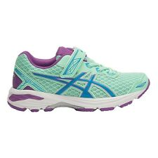 Asics GT 1000-5 JUNIOR GIRL'S RUNNING SHOES,GREEN/BLUE/PURPLE- US 2, 3, 11 Or 12