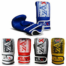 Leather Boxing Bag Mitts Boxing Gloves Sparring Punch Bag Training Mitts ADULTS