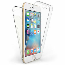 Front and Back Clear 360° Full protection Gel Cover Skin Case For iPhone 6 PLUS